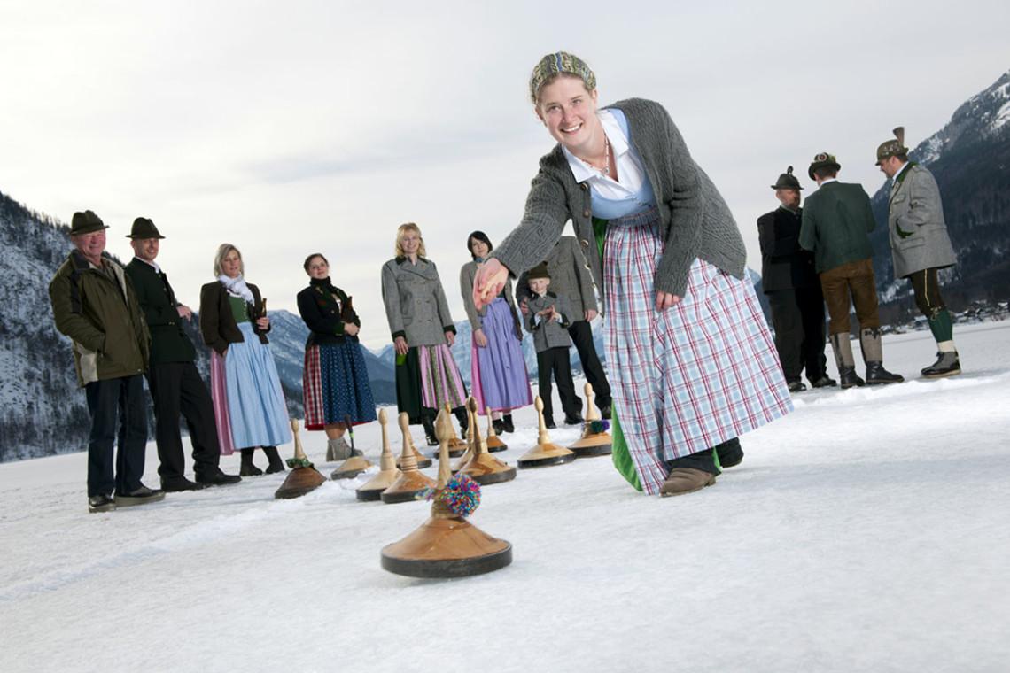 Eisstockschießen - Winterurlaub & Skiurlaub in Flachau, Salzburger Land, Ski amadé - Ferienwohnung im Haus Maier
