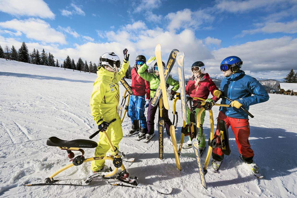 Skibob fahren & Snowbiken - Winterurlaub & Skiurlaub in Flachau, Salzburger Land, Ski amadé - Ferienwohnung im Haus Maier