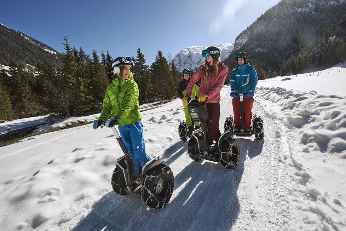 Segway fahren - Winterurlaub & Skiurlaub in Flachau, Salzburger Land, Ski amadé - Ferienwohnung im Haus Maier