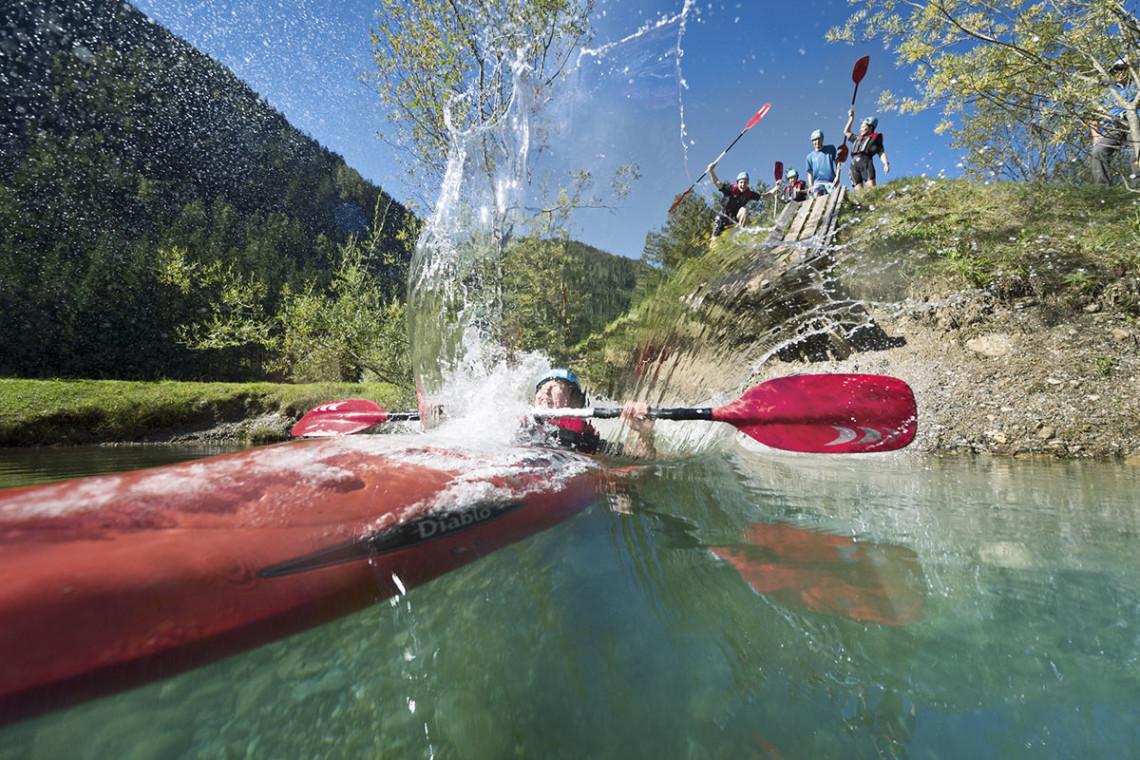 Sommer in der Region, Sommerurlaub in Flachau, Ferienwohnung im Haus Maier, Salzburger Land - Kajak fahren in Flachau