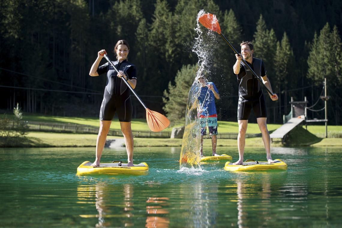Sommer in der Region, Sommerurlaub in Flachau, Ferienwohnung im Haus Maier, Salzburger Land - Stand up paddling in Flachau