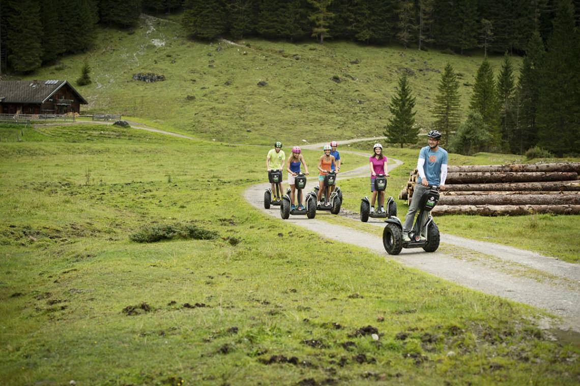 Sommer in der Region, Sommerurlaub in Flachau, Ferienwohnung im Haus Maier, Salzburger Land - Segway fahren in Flachau